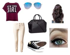 """""""new york girll..!!! <3"""" by nehirsanlidag ❤ liked on Polyvore featuring Pull&Bear, STELLA McCARTNEY, Converse, ASOS and H&M"""