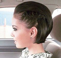 Short hairstyle #braid #elegant