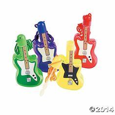 Guitar Bubble Bottle Necklaces - Oriental Trading