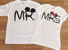 Free Shipping for US Mr and Mrs  Couples T shirts
