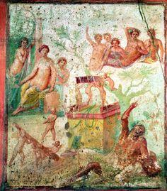 Drunken Hercules, Roman, 1st century (fresco). Roman, (1st century AD) / House of Siricus, Pompeii, Italy / Alinari / The B