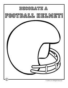 Football Crafts blank-football-helmet-print – Craft Jr.