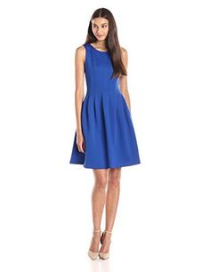 Calvin Klein Women's Fit-and-Flare Dress with Pleat