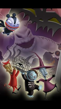 *OGGIE BOOGIE, LOCK, BARRELL & SHOCK ~ The Nightmare Before Christmas, 1993