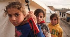 Syrian children in the south of Idlib prvoince at a camp for the displaced near the border with Turkey last year. Ireland allocated more than than €25m to the Syria crisis in 2019. File photograph: Aaref Watad/AFP via Getty Images