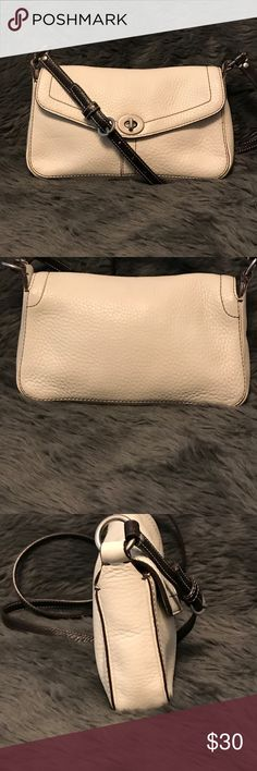 """Coach Pebbled Leather Cross Over Coach Pebbled Leather Cross Over Approximate size 9.5""""L x 2""""W x 5.5""""H and a 21"""" adjustable strap.  Gently used! Coach Bags Crossbody Bags"""