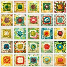 So you say you love #granny_squares? Click here for 350 of them! #crochet