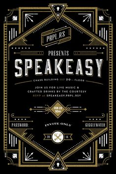 Speakeasy Invite (Rejected version) by Frank Rodriguez
