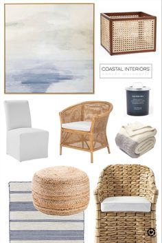 Coastal Homes, Wicker, Blankets, Chair, Interior, Modern, Table, Diy, Furniture