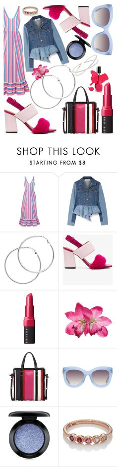 """Stipe a Hoop"" by chantellexxxx on Polyvore featuring Staud, Sea, New York, Melissa Odabash, Givenchy, Bobbi Brown Cosmetics, Balenciaga, Alice + Olivia, MAC Cosmetics, My Story and Pink"
