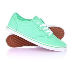 Кеды женские Vans W Atwood Low Canvas Spring Green ❤ liked on Polyvore featuring shoes, vans footwear, low canvas shoes, canvas shoes, low shoes and vans shoes