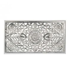 WOODEN WALL DECOR IN WHITE-SILVER COLOR 85X3X30