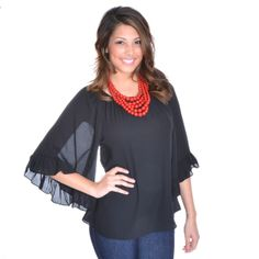 THE ABIGAIL TOP IN BLACK