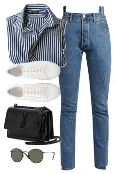 """Untitled #3791"" by theaverageauburn on Polyvore featuring Vetements, Yves Saint Laurent and Ray-Ban"