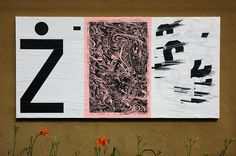 """ficciones-typografika: Ficciones Typografika 037-039 (24""""x36""""). Installed on July 26, 2013. Very pleased to feature (from left to right), Jasio Stefanski (2013), Mark Andresen (2013), and Ashley Huhe (2013). A thousand thanks to each for their generous contribution."""