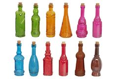 S/72 Assorted Colored Glass Bottles on OneKingsLane.com