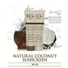 Eco Tan Natural Coconut Tinted Sunscreen SPF30, getinte zonnebrandcreme - De Groene Drogist