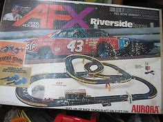 Used Aurora AFX Riverside HO Scale Race Set.21' Ft. Of Racing Track & Cars.. USD 75.0