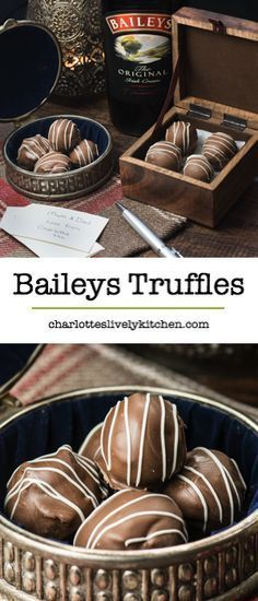 Treat someone you love with homemade Baileys truffles. There are two versions of this recipe, my original chocolate coated truffles and a quick and easy version. Both versions taste absolutely delicious and are the perfect gift someone special. Bailey Truffles, Chocolate Truffles, Chocolate Recipes, Chocolate Truffle Recipe, White Chocolate, Kahlua Truffles, Cake Truffles, Chocolate Brownies, Delicious Chocolate