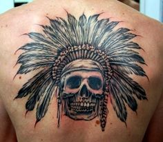 20 Indian skull tattoos