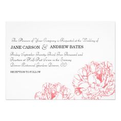 Peony Wedding Invitation Dealslowest price Fast Shipping and save your money Now!!...