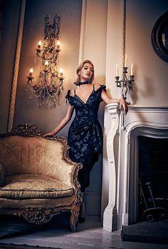 Rita Ora wears Miu Miu brocade off-the-shoulder dress for S Moda Magazine November 2016 issue