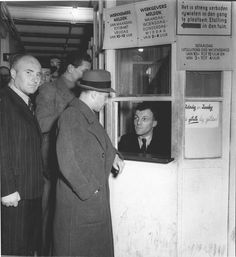 1941. Jewish citizens standing in line at the Jewish Council employment bureau. The Jewish Council was established on February 1941 on the initiative of the Nazi occupiers to handle the affairs of the Jewish Community. The council was primarily used by the occupier as a channel to implement anti-Jewish measures. Critics believe that the council made it easier for the Nazi's to implement anti-Jewish measures and organize deportations. #amsterdam #1941