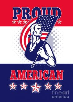 1 american patriot independence day poster greeting card aloysius patrimonio  USA independence day greetings cards with fine art America