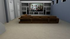 Built in for projector screen & speakers.