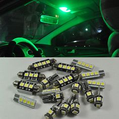 SMD Bright 16 Lights LED Interior Kit For Jeep Grand Cherokee 1998~2004 Green