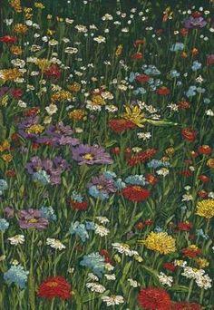 Bright Wildflower Field II Giclee Print