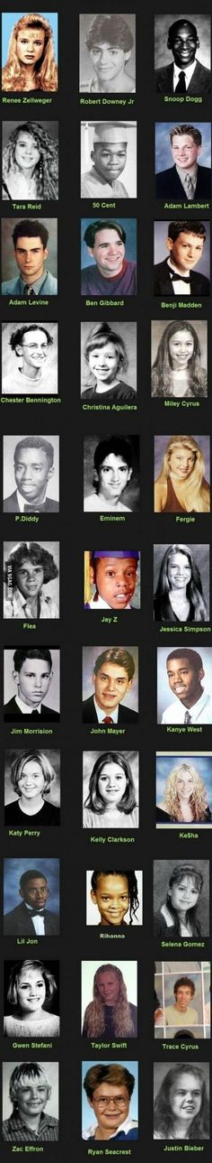 Young Celebrities-Young Celebrities- Ryan Seacrest was ugly. Taylor Swift was ugly and what happened to Kesha she was so cute. JB lolol