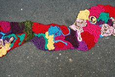 Kind of like #yarnbombing I love this street art!!