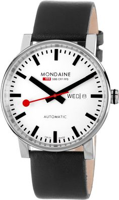 Mondaine Watch Evo Automatic Day Date #bezel-fixed #bracelet-strap-leather #brand-mondaine #case-depth-12mm #case-material-steel #case-width-40mm #classic #date-yes #day-yes #delivery-timescale-4-7-days #dial-colour-white #gender-mens #movement-automatic #official-stockist-for-mondaine-watches #packaging-mondaine-watch-packaging #style-dress #subcat-evo #supplier-model-no-a132-30348-11sbb #warranty-mondaine-official-2-year-guarantee #water-resistant-30m
