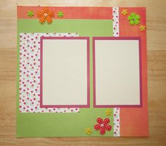 Flower Scrapbook Page Girl Scrapbook Layout by AngelBDesigns4You
