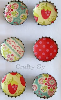 bottle cap magnets - these are cute!