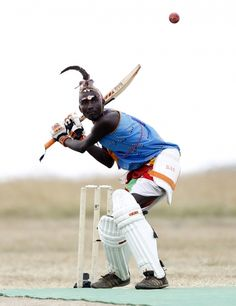 Thomas Takare of the Maasai Cricket Warriors plays a shot against the Ambassadors of Cricket from India during a match in Kenya. Through the game the Maasai Cricket Warriors promote promote healthier lifestyles and campaign against harmful cultural practices, such as female genital mutilation, early childhood marriages and discrimination against women in Maasailand. REUTERS/Thomas Mukoya (via euronews)