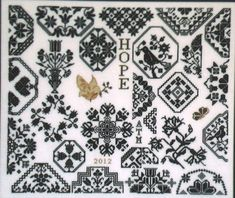 Modern cross stitch pattern by AuryTM Designs  Hope by sewsewnsew