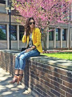 Look do dia: Boyfriend Jeans & Blazer