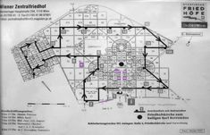 Plan Cimetière : Zentralfriedhof Floor Plans, Diagram, Art, Vienna, Art Background, Kunst, Performing Arts