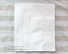 4-Sizes-Plain-White-Paper-Flat-Bags-Food-safe-treat-cookie-candy-bakery-bags