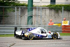 The american team DragonSpeed brings his Oreca 07 on track at the Monza Circuit.  This LMP2 Sports Prototype competes in the 2017 European Le Mans Series, driven by Henrik Hedman, Nicolas Lapierre and Ben Hanley.