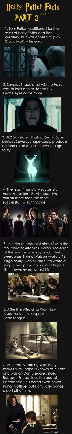 Even More Harry Potter Facts