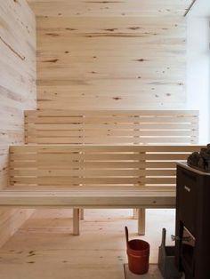 aspen wood sauna Sauna House, Sauna Room, Scandinavian Saunas, Modern Saunas, Mobile Sauna, Sauna Shower, Outdoor Sauna, Sauna Design, Finnish Sauna