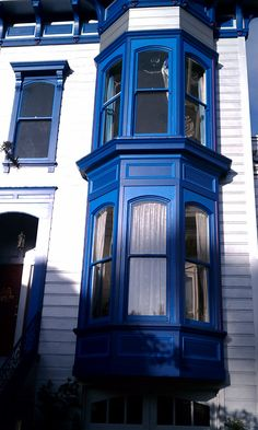 House trim Mission District--cobalt blue and royal blue