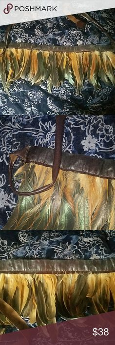 Amazing one of a kind feather accessory So pretty! Will spice up any outfit. Gift, hippy, belt, festival, holiday feathers Accessories
