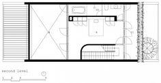 Plano de segunda planta de casa pequeña