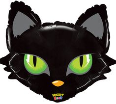 Black Cat Face Balloons will make your Halloween party decorations extra SCARY!  #burtonandburton #Halloween #balloons #cats