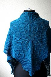 This is the first design in the Celtic Cable Shawls collection.