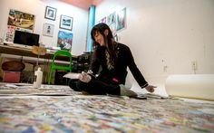 Jennifer Maravillas, Hite CA&D BFA 2006, worked on for three years on a map of Brooklyn made of trash picked up in each square block. On display at BRIC Arts through May 3, 2015. More info: http://71squaremiles.com/